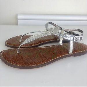 Sam Edelman sandals sliver flats Gigi size 7,5